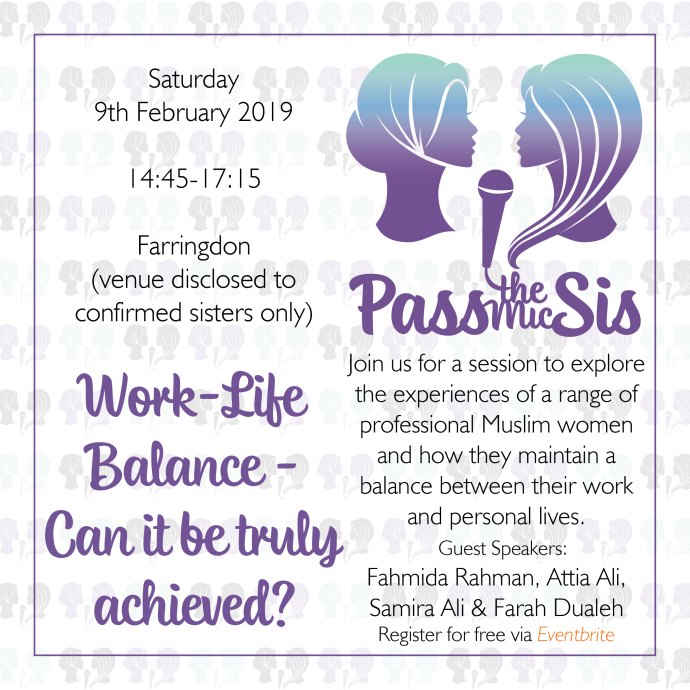 PtMSis Work Life Balance Can it be Truly Achieved Feb 2019 Invitation