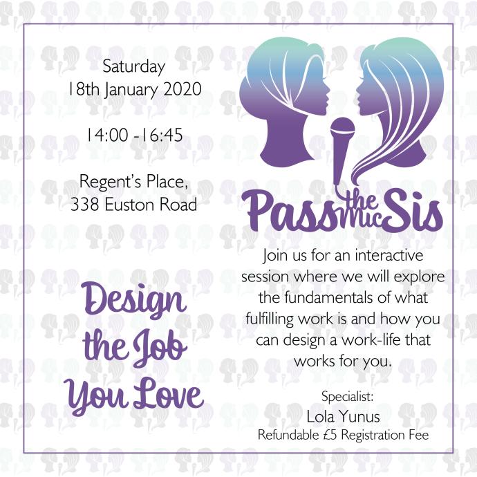 PtMSis Design the Job You Love January 2020 Invitation