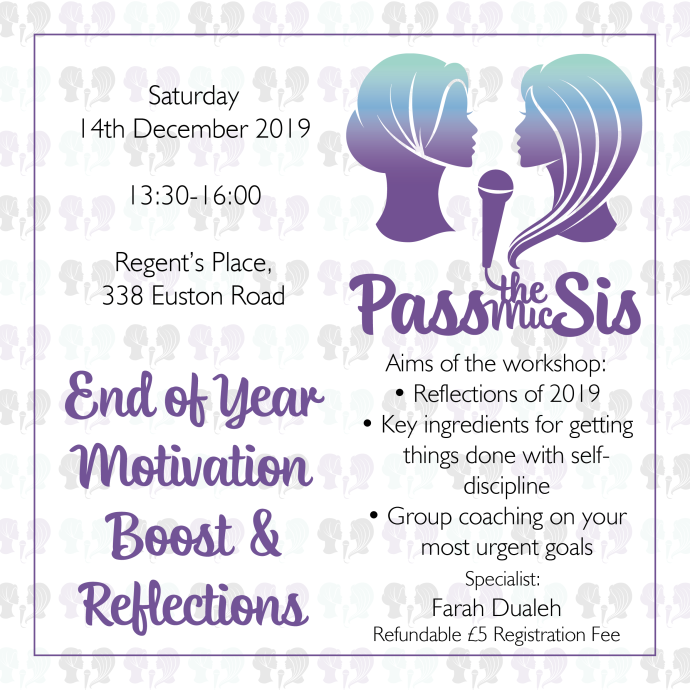 PtMSis Motivation Boost and End of Year Reflections December 2019 Invitation