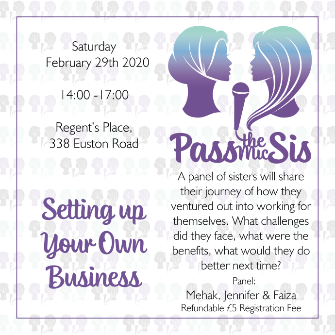 PtMSis Setting up Your Own Business February 2020 Invitation